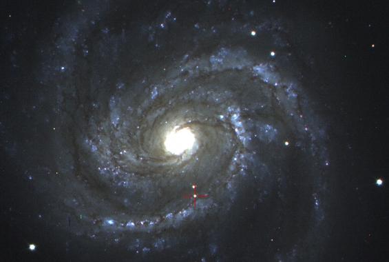 Foto av supernovan SN2006X,